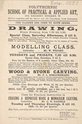 Advert for the Polytechnic School of Practical & Applied Art